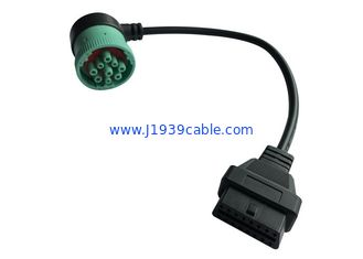 China High Performance OBD2 J1939 Cable For PA66 And Glass Fiber Plug supplier