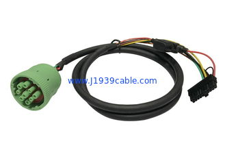 China Green Deutsch J1939 Cable Female To Molex With Fuse , RoHS Approval supplier