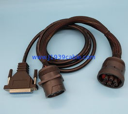 China Custom Type 1 J1939 Y Cable Replacement For Diagnostic Devices supplier