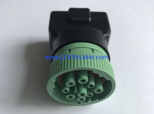 China Green 16 Pin Obd2 Connector , 16 Pin Diagnostic Connector 1 Year Warranty supplier