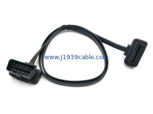 China Extension Obd2 Scanner Cable / Obd Adapter Cable Flat Ribbon Shape supplier