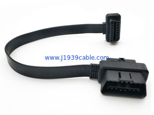China Pass Through To OBD2 Flat Extension Cord For OBD Connectors And Plugs supplier