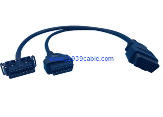 China RoHS Listed Splitter OBD2 Y Cable PVC Overmolded Part For Hyundai And Kia supplier