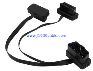 China Professional J1962 OBDII OBD2 Y Cable Replacement Right Angle 90 Degree supplier