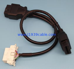 China OBD2 OBDII Male To Toyota Y Splitter Power Cable Length Customized supplier