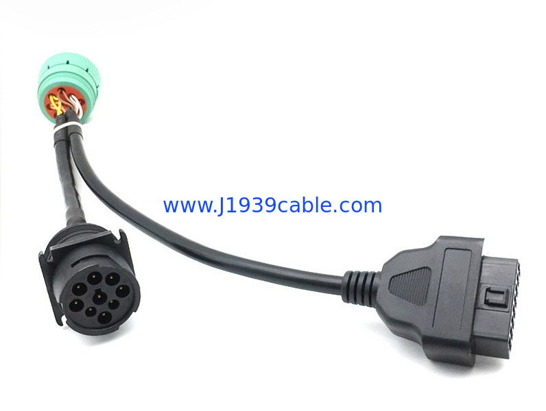 J1939 Male Truck Diagnostic Cables Durable With KET Terminals