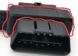 Pass Through To OBD2 Flat Extension Cord For OBD Connectors And Plugs